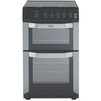 Belling Fsg50Do 50Cm Wide Gas Double Oven - Silver