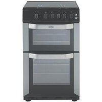 Belling Fsg50Do 50Cm Wide Gas Double Oven (Silver) With Connection