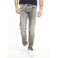 Replay Hyperflex Anbass Slim Fit Jeans, Grey, Size 33, Length Regular, Men