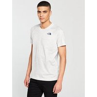 THE NORTH FACE Short Sleeve Raglan Simple Dome T-Shirt, White, Size M, Men