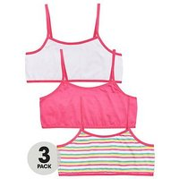 V by Very 3 PK BRIGHT CROP TOPS, Multi, Size 13 Years, Women