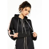 Puma En Pointe Savannah Cropped Hoodie - Black , Black, Size Xl/16, Women