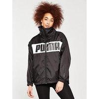 Puma Urban Sports Windbreaker - Black, Black, Size M/12, Women