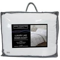 Ideal Home Luxury Like Down 100% Cotton Cover 13.5 Tog Duvet In Double, King And Super King Sizes