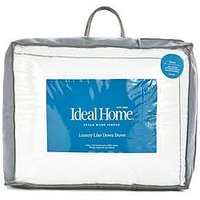 Product photograph showing Ideal Home Luxury Like Down 100 Cotton Cover 15 0 Tog Duvet
