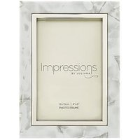 Product photograph showing White Marble Look Photo Frame