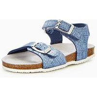 Lelli Kelly Girls Lara Glitter Sandal - Blue, Blue, Size 12 Younger