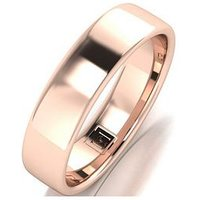Love GOLD 9ct Rose Gold Premier Collection 5mm Heavy Weight Wedding Band, One Colour, Size J, Women