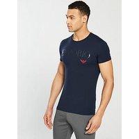 Emporio Armani Mega Logo T-Shirt, Marine, Size L, Men