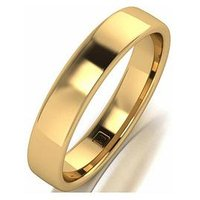 Love GOLD Lady Lynsey 9ct Rose Gold 4mm Heavy Weight Wedding Band, One Colour, Size U, Women