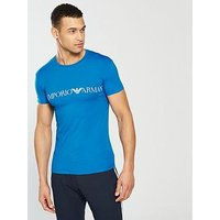 Emporio Armani Colour Play T-Shirt, Sky, Size L, Men