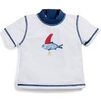 Mamas & Papas Baby Boys Fish Rash Top, Off White, Size 2-3 Years