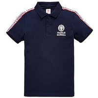 Franklin & Marshall Boys Shoulder Detail Polo, Navy, Size 14-15 Years