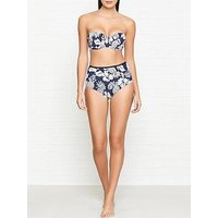 Seafolly Royal Horizon Strapless Bustier Bikini Top - Navy