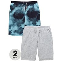 Boys, V by Very 2 Pack Fashion Sweat Shorts, Multi, Size Age: 10 Years
