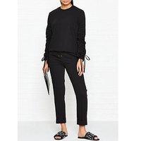 Kenzo Crepe Tailored Trackpants - Black