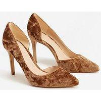 Mango Audrey11 Court Shoe, Caramel, Size 4, Women
