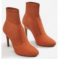 Mango Lola Sock Ankle Boot, Tan, Size 7, Women
