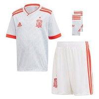 Boys, adidas Infant Spain Away Mini Kit, Blue, Size 18-24 Months