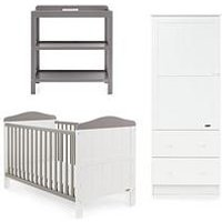 Obaby Whitby 3-Piece Nursery Furniture Set - Blue, Grey or Pink, Grey