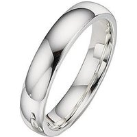 The Love Silver Collection Ladies 4 mm Argentium Silver Wedding Band, Size P, Women