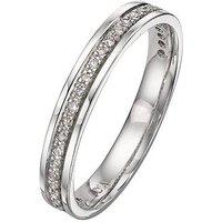 Love DIAMOND 9 Carat White Gold 15pt Diamond-Set Wedding Band - 3 mm, Size P, Women