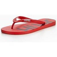 Hugo Boss On Fire Flip Flop, Medium Red, Size 5.5/6.5, Men