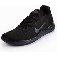 Nike Free RN 2018, Black/Black, Size 8, Men