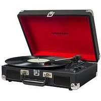 Crosley Cruiser Deluxe Portable Turntable With Bluetooth Streaming - Black