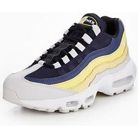 Nike Air Max 95 Essential, White/Blue/Yellow, Size 10, Men