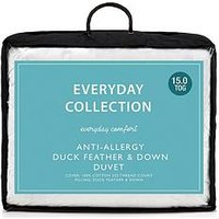 Everyday Collection Anti-Allergy Duck Feather &Amp; Down Duvet 15 Tog Db