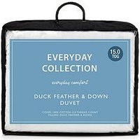 Product photograph showing Everyday Collection Duck Feather And Down 15 Tog Duvet