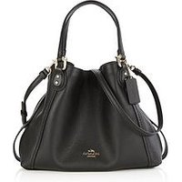 Coach Edie 28 Double Handle Shoulder Bag- Black
