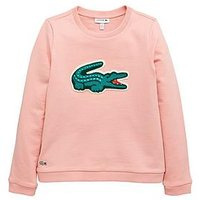 Lacoste Girls Logo Sweatshirt, Fairy Pink, Size Age: 12 Years, Women