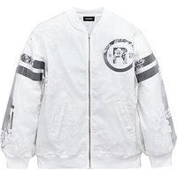 Diesel Girls Bomber Jacket, White, Size 10 Years, Women