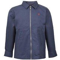 Farah Boys Zip Through Shirt Jacket, Navy, Size Age: 6-7 Years