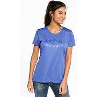 Jack Wolfskin Rock Chill Logo T-Shirt - Blue , Blue, Size S, Women