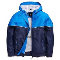 Boys, V by Very Colour Block Windcheater With Rib, Navy, Size Age: 10 Years