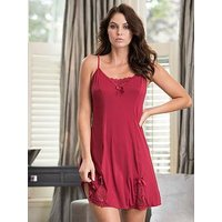 Pour Moi Rebel Chemise - Red, Red, Size 14, Women