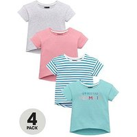 Mini V by Very Girls 4 Pack Mermaid Tees, Multi, Size Age: 12-18 Months, Women