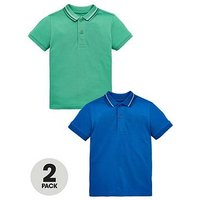 Mini V by Very Boys 2 Pack Polos, Multi, Size Age: 5-6 Years