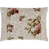 Dorma Antique Floral 100% Cotton 300 Thread Count Cushion