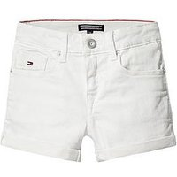 Tommy Hilfiger Girls Skinny Denim Shorts, White, Size Age: 6 Years, Women