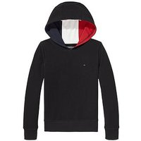 Tommy Hilfiger Boys Pique Panel Hoody, Black, Size 4 Years