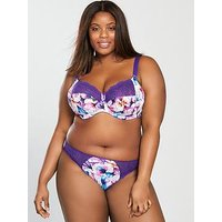 Elomi Morgan Underwired Banded Bra - Lily Print, Lily, Size 40Gg, Women