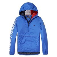 Tommy Hilfiger Boys Hooded Pop Over Jacket, Blue, Size Age: 12 Years