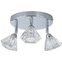 Product photograph showing Diamond 3 Light Spot Ceiling Light