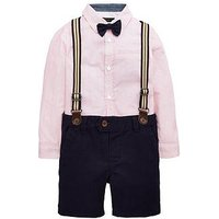 Mini V by Very Boys Shirt Bow Tie And Short Set, Multi, Size Age: 3-6 Months