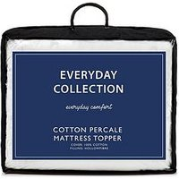 Everyday Collection Cotton Percale Mattress Topper