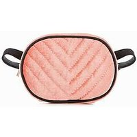 V by Very Quilted Velvet Bumbag, Pink, Women